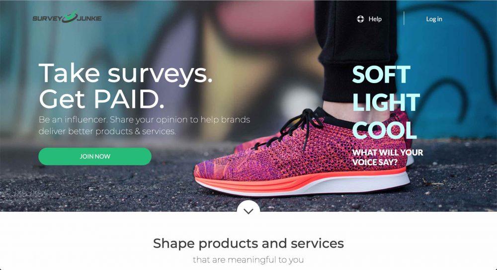survey junkie website screenshot